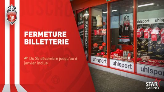 Fermeture billetterie: 25/12 - 06/01