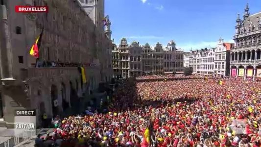 Les Diables assurent un show mémorable sur la Grand Place de Bruxelles