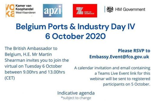 British Embassy Brussels Invitation: Belgium Ports & Industry Day IV - 6 October 09h00 CET