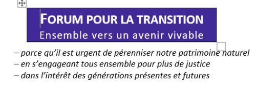 Forum pour la transition