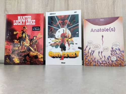 Sorties BD: Wanted Lucky Luke, Gun Crazy et Anatole(s)