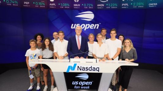 David Goffin, invité d'honneur de la Bourse de New York