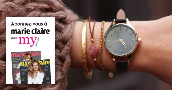 Marie Claire pendant 1 an + une montre My jewellery Classic Watch Black