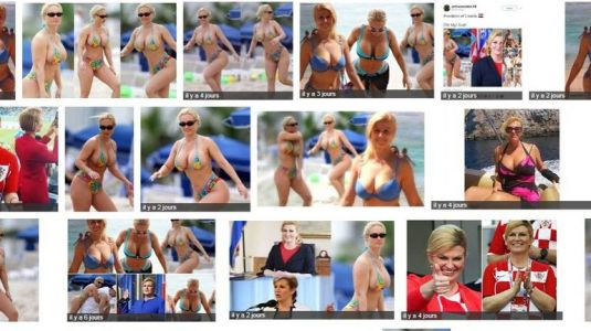 Kolinda Grabar-Kitarovic, la présidente croate, star du web pour son fair-play. et ses fausses photos en bikini